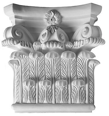 Antique Capital top for Pilaster or column Primed White millwork molding D720A