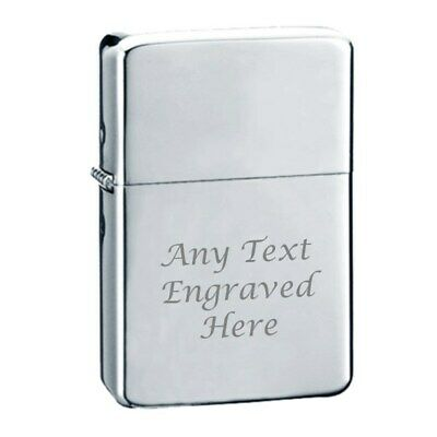 Chrome Personalised Star Engraved Lighter In Gift Tin