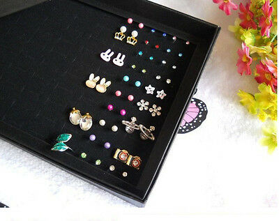 100 Slot Jewelry Ring Display Organizer Box Tray Holder Earring Storage Case