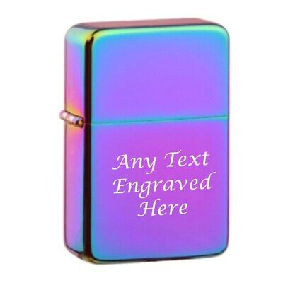 Rainbow Personalised Star Engraved Lighter In Gift Tin