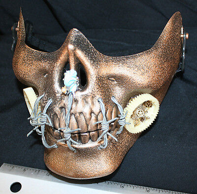 Steampunk Halloween ~ Gimme Some Sugar, Baby ~ Adjust Gold Face Mask Barbed Wire