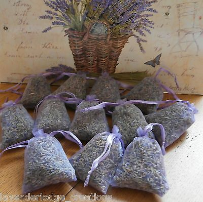 12 Lavender Sachets/Bags/Wardrobe/ Drawer/Aromatic/Repel/Calming/Air Fresh/Sleep