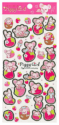 """San-X Piggy Girl """"Sweets"""" Stickers (#2)"""