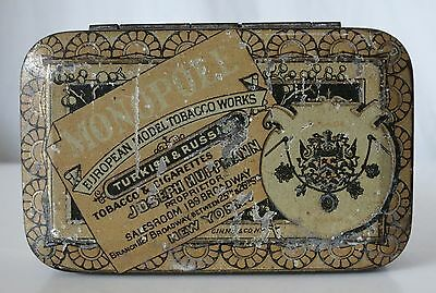 Monopole Turkish & Russian Antique Tobacco Tin, European Model Tobacco Works