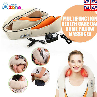 Health Care Shiatsu Kneading Neck Shoulder Back Waist Belly Massager Relax Heat