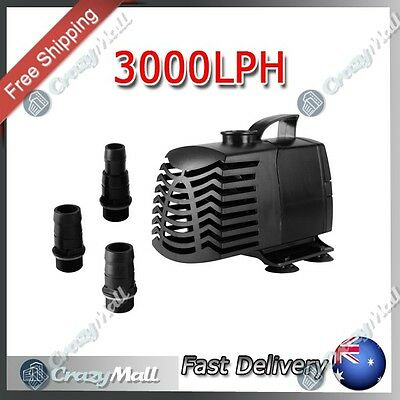 Submersible Aquarium Fountain Pond Water Pump 3000LPH