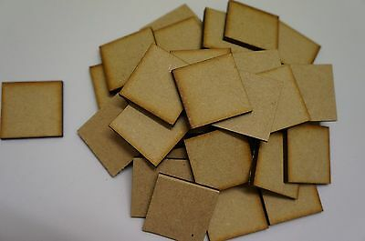 MDF WOOD SQUARE SHAPES 3mm LASER CUT WOODEN SHAPE DECORATION