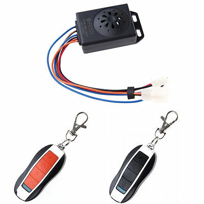 Motorcycle Motorbike Anti-theft Security Remote Alarm Control System 48-64V