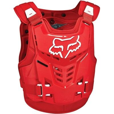 Fox Racing NEW Youth Mx Proframe Red Motocross Roost BMX Chest Guard Kids Armour