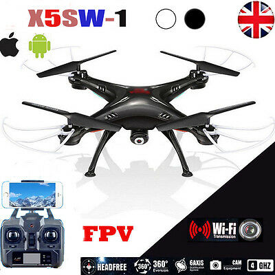New X5SW-1 Explorers FPV RC Quadcopter Aircraft Drone With Camera  +  Battery UK