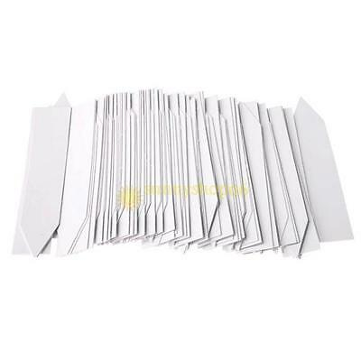 """4"""" Plant Pot Markers Plastic Garden Stake Tags Nursery seed  Labels 100pcs white"""