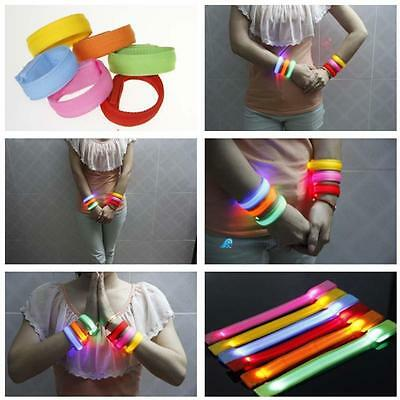 LED Light Glowing Wristband Flashing Bracelet Party Concert Biking Bar Events GL