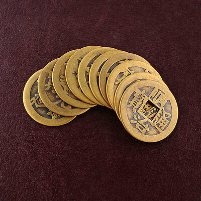 10x Feng Shui Lucky Chinese Fortune Dragon Coin Oriental Emperor Qing Money Set