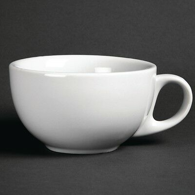 Porcelite Napoli 12oz// 34cl White Latte Mug x 12 Coffee Cup Cafe Catering
