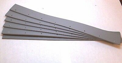 "6PK 24"" Gray Non-Marking Rubber Single Edge Squeegee Blade 1ETZ8 NEW"