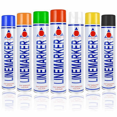 Line Marker Aerosol Spray Paint 750Ml Sports Field Car Park Road Warehouse
