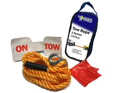 AUDI A1 2 Tonnes Heavy Duty Car Towing Vehicle Road Recovery Tow Rope 3.5M