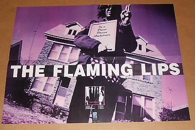 The Flaming Lips In a Priest Driver Ambulance Poster 1990 Original Promo 24x18