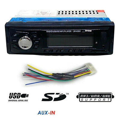 Autoradio Stereo Bluetooth Auto Lcd Radio Telecomando Slot Sd Usb Aux Mp3 1208