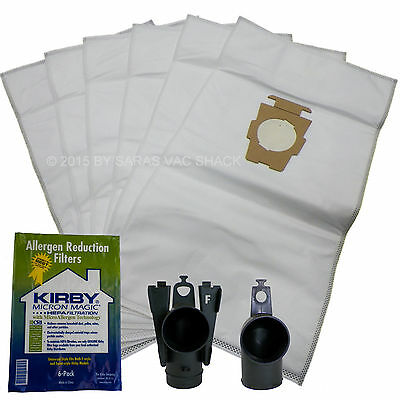 6 Genuine Kirby Vacuum Cleaner Bags Cloth Sentria II F Style Micron Magic