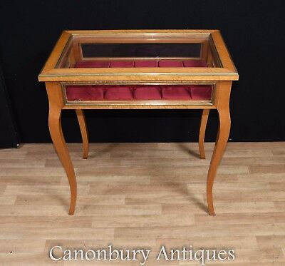 French Empire Jewellery Case Display Cabinet Bijouterie