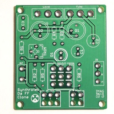 Synthrotek Arbiter Fuzz Face Clone PCB Guitar Effects Pedal