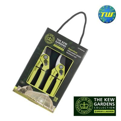 Spear & Jackson Kew Gardens Adjustable Bypass Secateurs and Anvil Secateurs Set