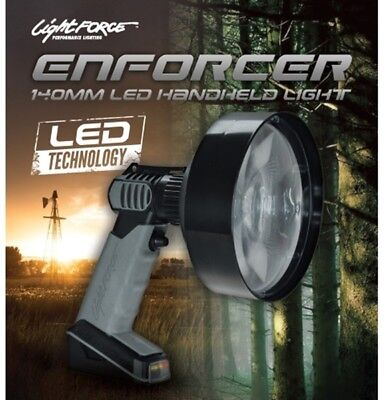 Lightforce 140mm Enforcer LED Handheld Spot light Built in battery