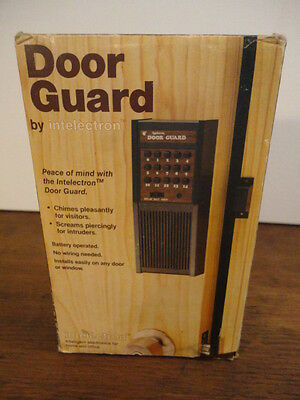 Vintage Door Guard Security and Chime by Intelectron (Battery Operated)