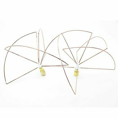 Matched 1.2Ghz 1.3GHz Cloverleaf Skew Planar Antenna Set SMA Short 1080-1380mhz