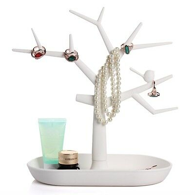 Jewelry Necklace Ring Earring Tree Stand Display Organizer Holder Show Rack EA