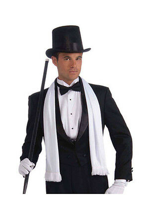 1920s #WHITE VINTAGE GANGSTER MOBSTER SCARF FANCY DRESS STAG NIGHT ACCESSORY