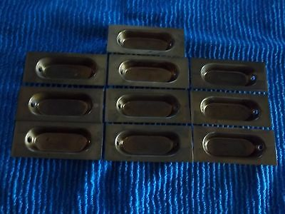 10 pc. metal cabinet drawer handle concealed finger pulls