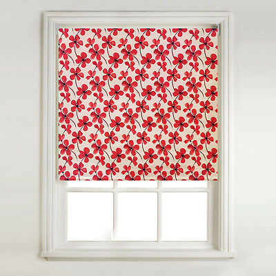 Red Large Poppy - Thermal Blackout Roller Blind, Metal Tube & Fittings