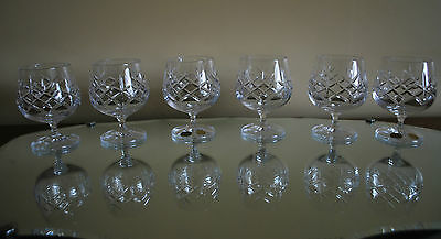 Set of 6 - Small Brandy Balloon Glasses Bohemia Crystal - Ideal for Liquers #500