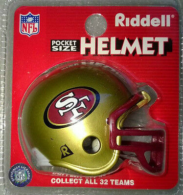 NFL Riddell American Football Pocket Traditional Helmet SAN FRANCISCO 49'ers