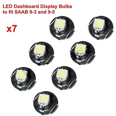 White LED Replacement Bulbs to fit SAAB 9-3 93, 9-5 95, SID + ACC Climate Dash
