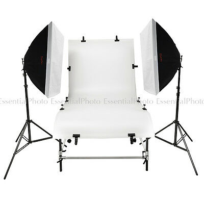 PIXAPRO DayLite4 4200W Studio Twin Softbox Kit with 110x200cm Shooting Table