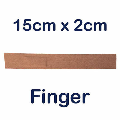 Steroplast Steroflex Stretch Fabric First Aid Wound Plasters Finger 15Cm X 2Cm