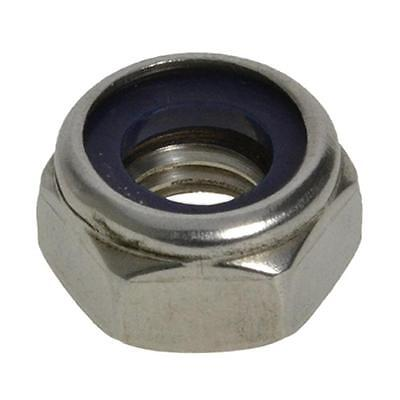 Qty 5 Hex Nyloc Nut M6 (6mm) Stainless Steel SS 304 A2 70 Lock Insert