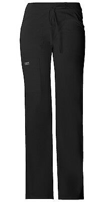 Cherokee 24001 Ladies Core Stretch Scrub pant (Black) Buy 3 Piece Shipping $4