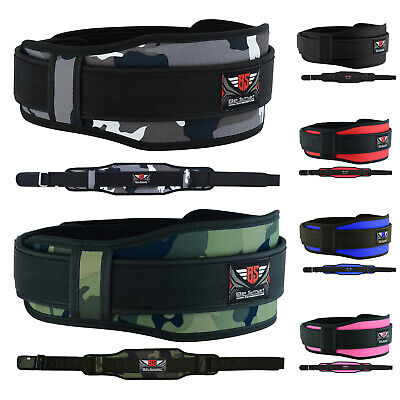 Weight Lifting Belt Gym Training Back Support Neoprene Lumber Pain Fitness