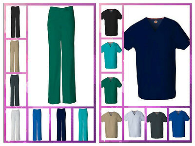 New Dickies Unisex Medical Scrubs Pants and/or Top 8 Assorted Colors SizesXS-2XL