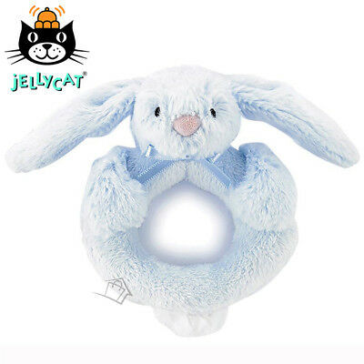 NEW Jellycat Bashful Bunny Ring Rattle Blue 12cm Soft Plush Toy Baby Nursery
