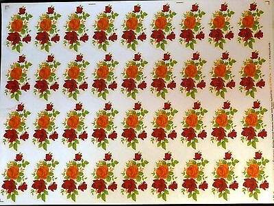 CERAMIC DECALS BY MATTHEY MASQURADE 7cm X 4cm 36 ON A SHEET RIGHT PRICE