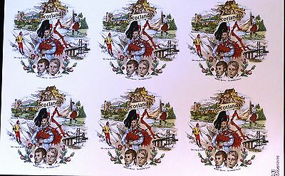 Ceramic Decals 12  Of Scotland By Baley 6 On A Sheet W/d 169509 Right Price