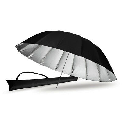 "PIXAPRO ® Premium 71 "" Black/ Silver Umbrella (180cm) 8mm Shaft"