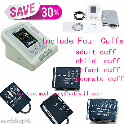 CONTEC CONTEC08A Blood Pressure Monitor + Adult+Child+Pediatric+Neonatal Cuff s