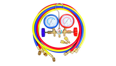"R410a AIR CONDITIONING REFRIGERATION MANIFOLD GAUGE WITH 60"" HOSE LONG"
