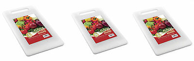 Plain White Plastic Chopping Board Cutting Kitchen Food Slicing Dicing Boards